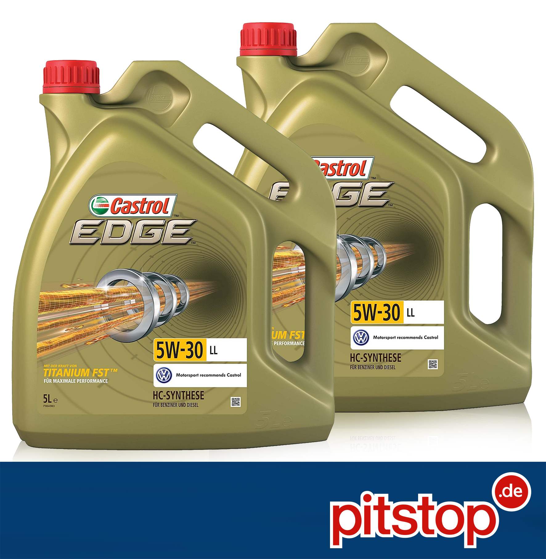 10 liter 2x 5l original castrol edge titanium fst 5w 30. Black Bedroom Furniture Sets. Home Design Ideas