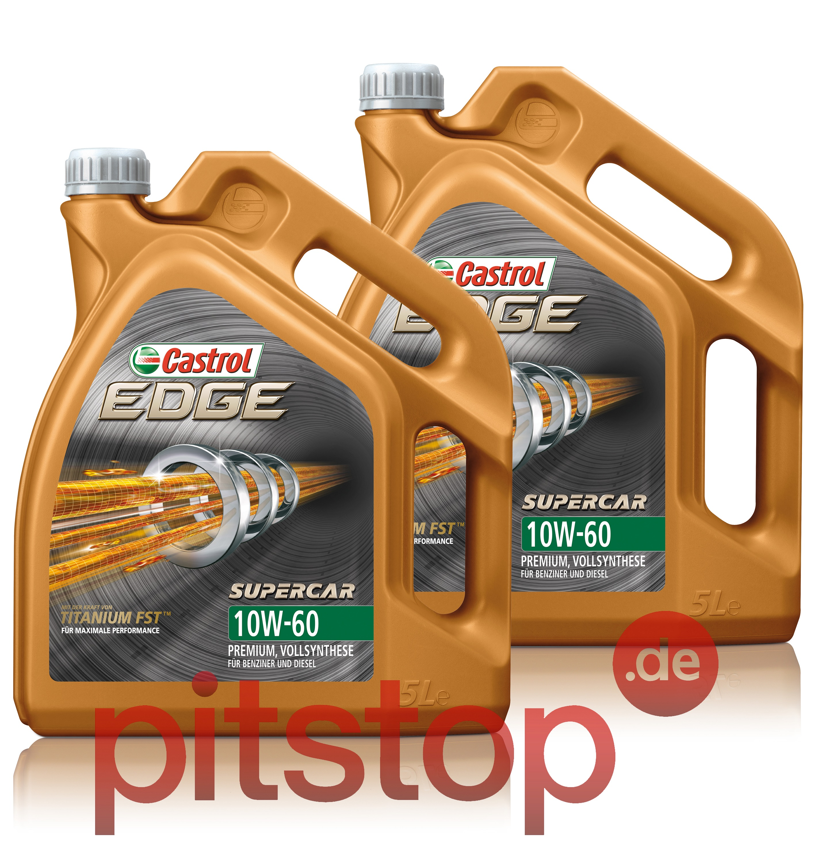 2x 5l 10 liter castrol edge titanium fst supercar 10w 60. Black Bedroom Furniture Sets. Home Design Ideas